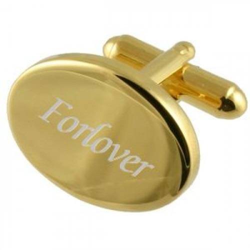 Forlover Guld Manchetknapper med Gravering