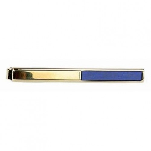 Slipseholder Guld Halv Lapis Lazuli