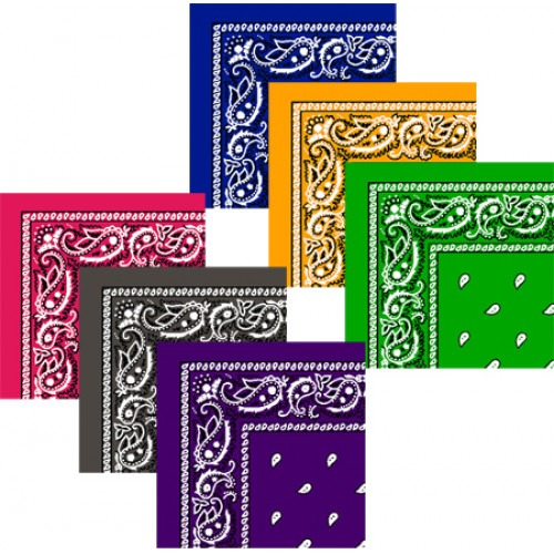 12 Stk Bandanas DeLuxe Valuepack 4 farver