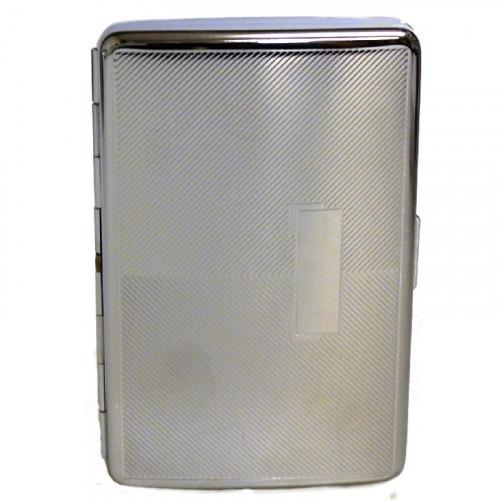 Sølv Cigaret Etui til Look (100 mm) Cigaretter
