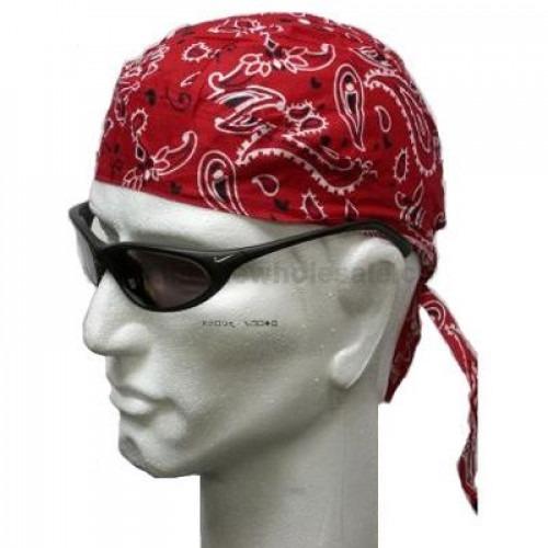 Rødt Headwrap Bandana