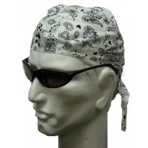 hvid paisley head wrap