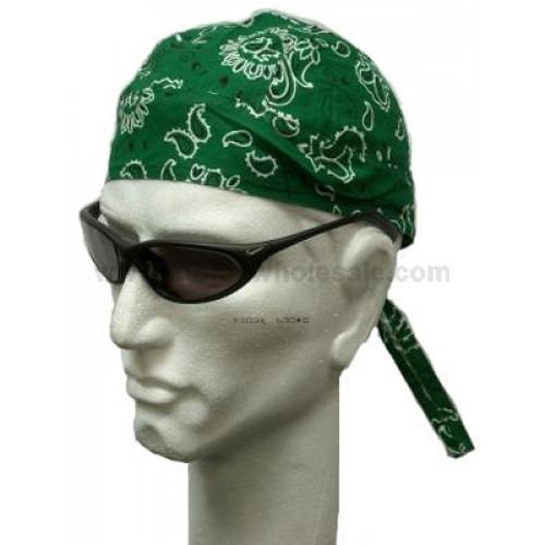 Grøn Paisley Head Wrap Zandana Bandana
