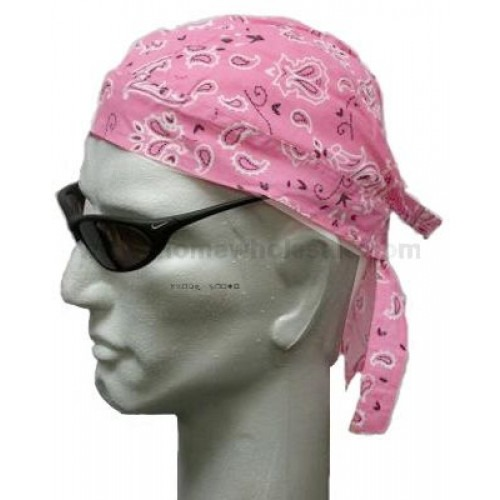 baby pink head wear paisley pattern