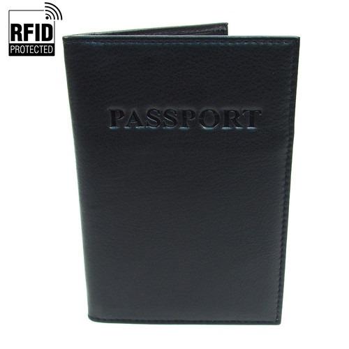 RFID Pas Holder i Sort Læder