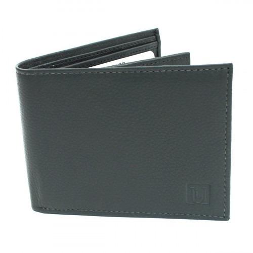 Mellemgrå RFID Bifold Læder Tegnebog