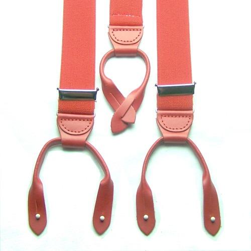 Brede Røde Y Seler med Røde Runde Læderstropper