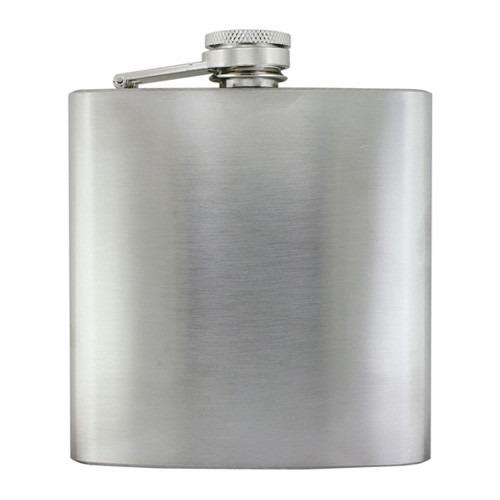 6 oz Lommelærke Mat Sølv