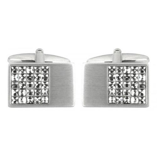Mode Sølv Manchetknapper med Krystaller
