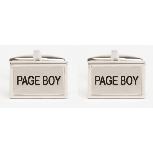 Page Boy Ring Bærer Manchetknapper