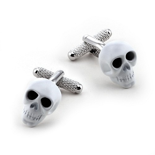 Hvide Skull / Scull Manchetknapper