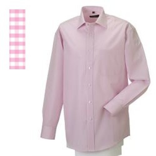 Skjorte 43/44 Gingham Check Pink