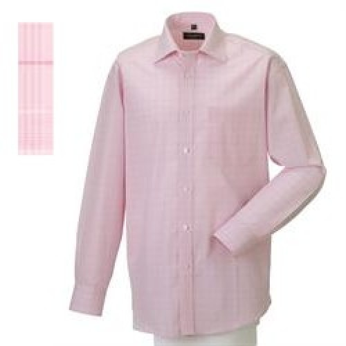 Skjorte 39/40 Prince of Wales Check Pink