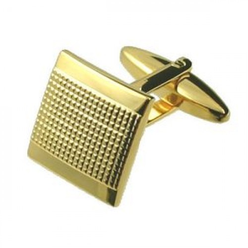 Guld Manchetknapper Pin SQ