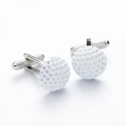 Manchetknapper Hvid Golf Bold