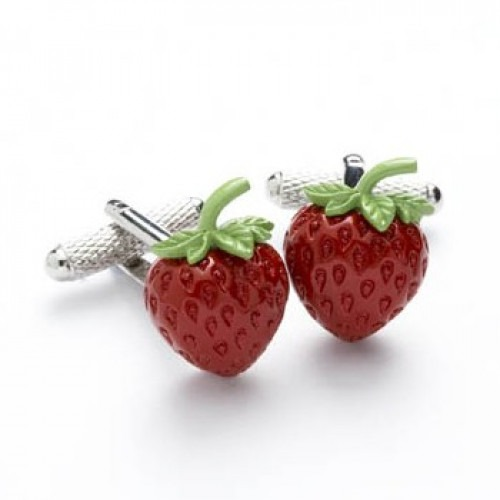Manchetknapper Jordbær