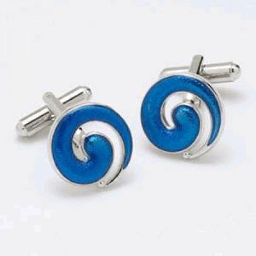 Manchetknapper Blue Swirl