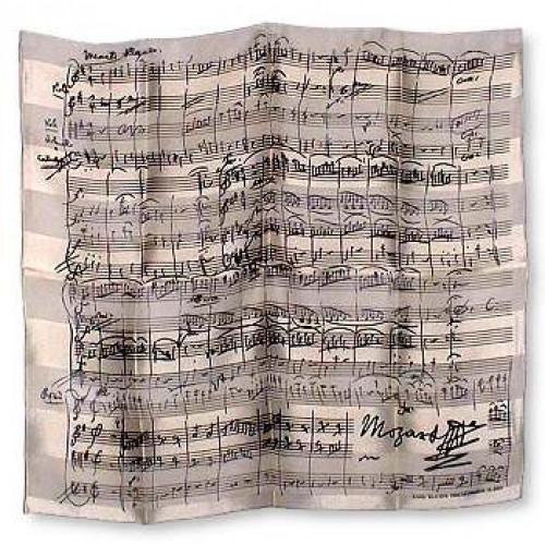 Foulard Mozart Hvid