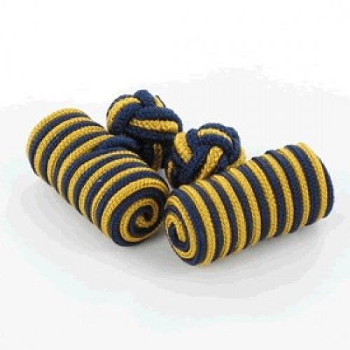Manchetknuder Tønde Navy & Guld