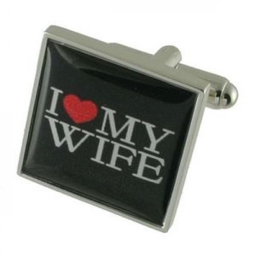 Romantiske manchetknapper med I heart my wife