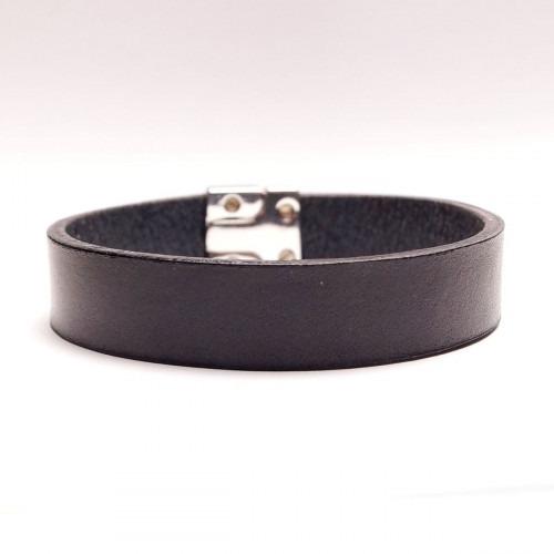 Dansk fabrikeret sort læder armbånd