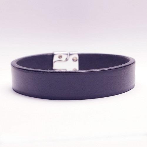 Dansk fabrikeret marine farvet læder armbånd