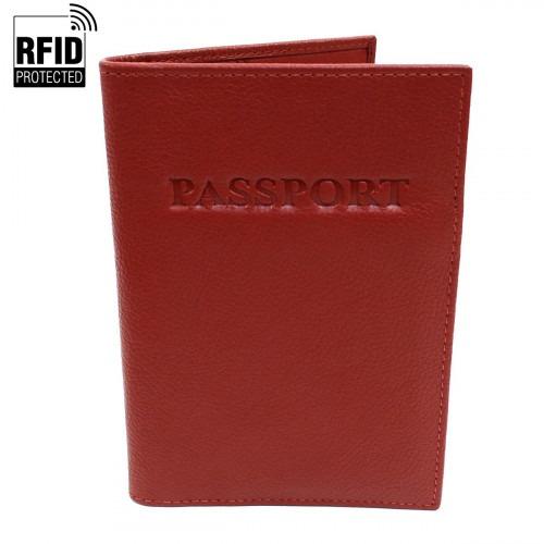 RFID Pas Holder i bordeaux Læder