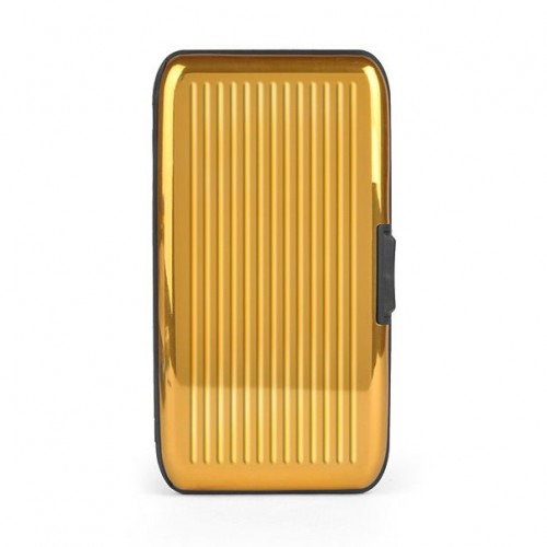 Card-Guard Tegnebog Kortholder - Guld Aluminium