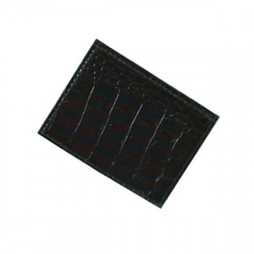 Seddelholder med kortholder i Sort Crocco Læder