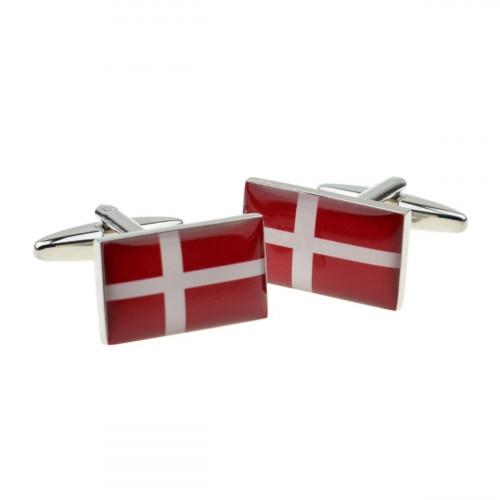 Danmarks Dannebrog Flag Manchetknapper