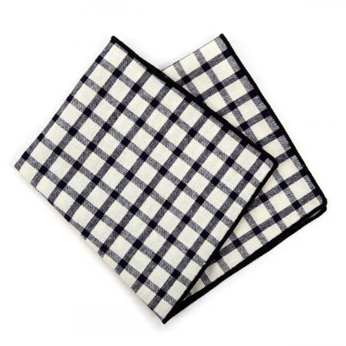 Sort Hvid Ternet Pyntelommetørklæde