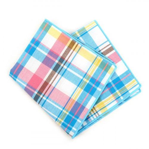 Kulør Ternet Pyntelommetørklæde