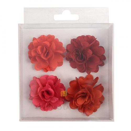 4 flower lapel pins