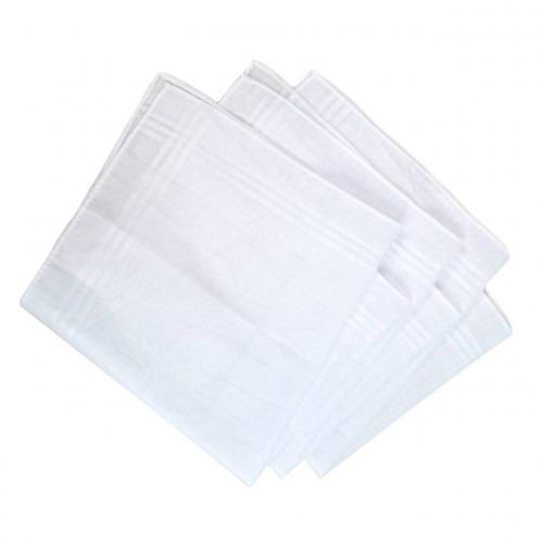 3 stk hvide lommetørklæder