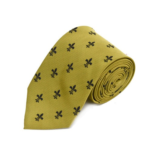 Guld slips med franske liljer
