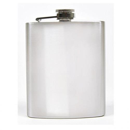 7 oz Lommelærke Blank Sølv