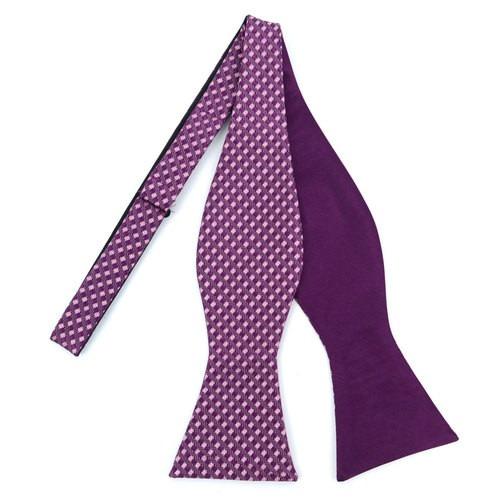2 Farvet Free Style Bow Tie Purple