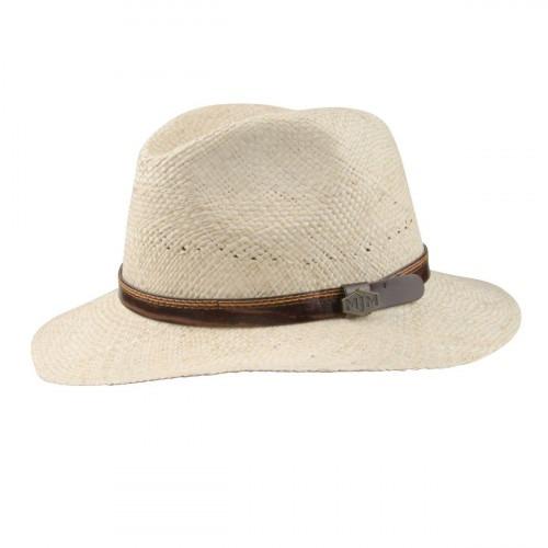 MJM GO Panama Hat Natur med Læderrem