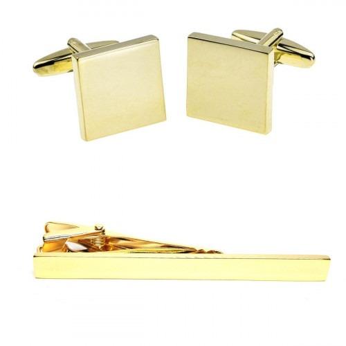 Guld Manchetknapper og Slipsenål med din egen Gravering