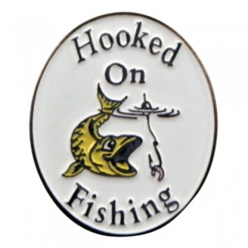 Hooked on Fishing Hat Pin