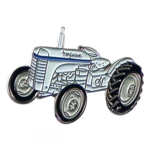 Farmers Classic Retro Tractor Metal Enamel Lapel Pin Badge
