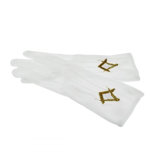 Hvide Frimurer Handsker