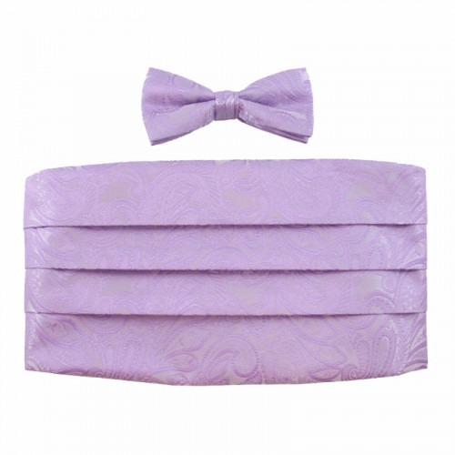 Cummerbund Skærf Sæt Lavender Farvet