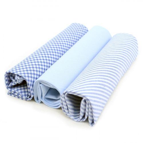 3 stof lommetørklæder til mænd