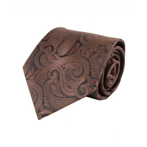 Klassisk Paisley Slips i Brun