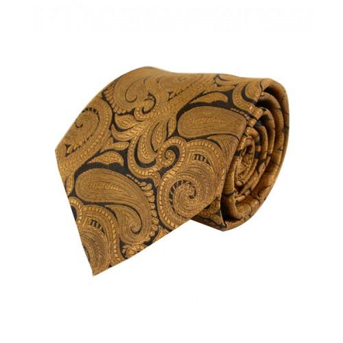 Klassisk Paisley Slips i Guld