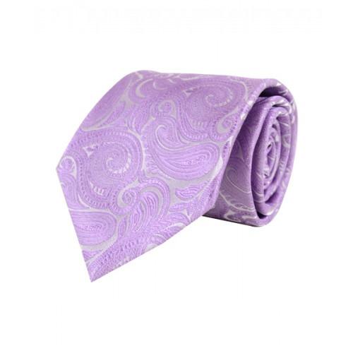 Klassisk Paisley Slips i Lavendel