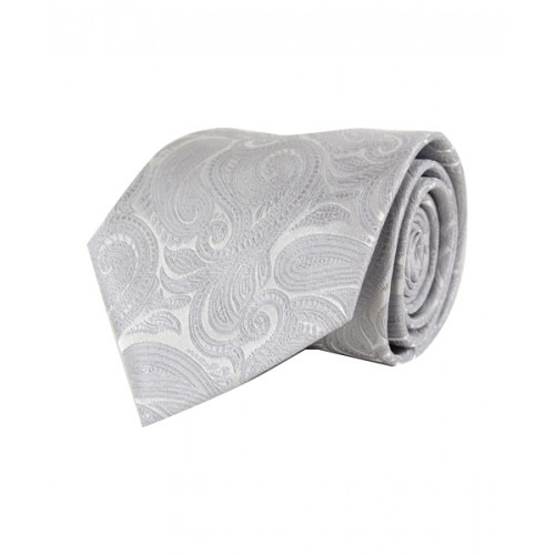 Klassisk Paisley Slips i Sølv