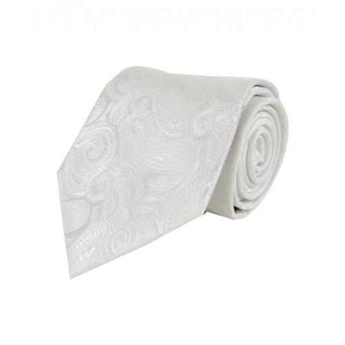 Klassisk Paisley Slips i Hvid