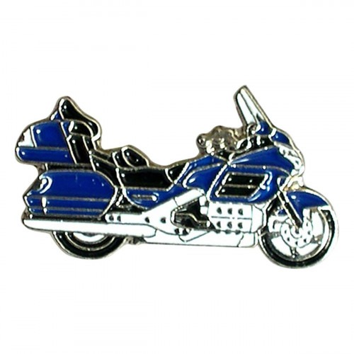 Blue Cruiser Motorbike Metal Enamel Lapel Pin Badge